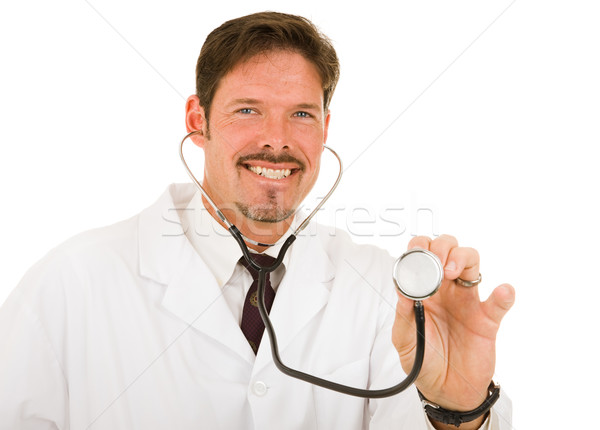 Friendly Caring Doctor Stock photo © lisafx