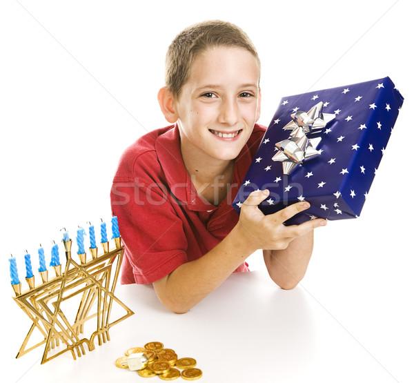 Little Boy Celebrates Chanukah Stock photo © lisafx