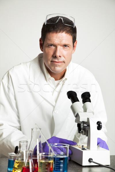 Portrait of Scientist in Lab Stock photo © lisafx