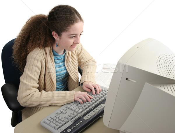 Researching Homework Online Stock photo © lisafx