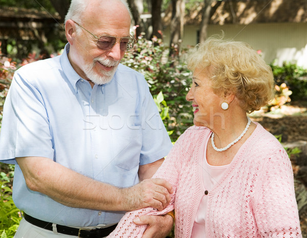 Senior Couple Outdoors Stock photo © lisafx