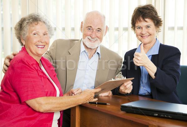Senior Financial Advice - Thumbsup Stock photo © lisafx