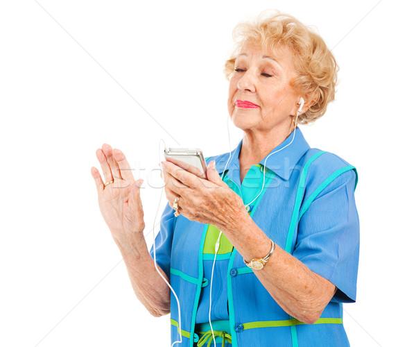 Starszy pani muzyki piękna kobieta Zdjęcia stock © lisafx