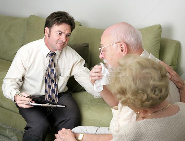 Empatia conselheiro ajuda casal marido homem Foto stock © lisafx