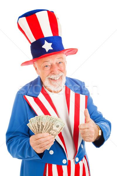 Nagybácsi gazdasági gyógyulás amerikai ikon tart Stock fotó © lisafx