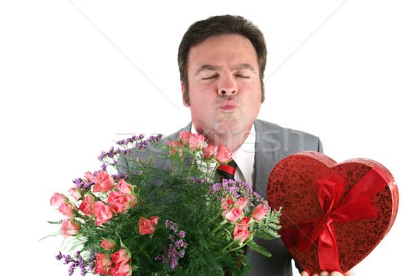 Valentine Guy - Kiss Me  Stock photo © lisafx