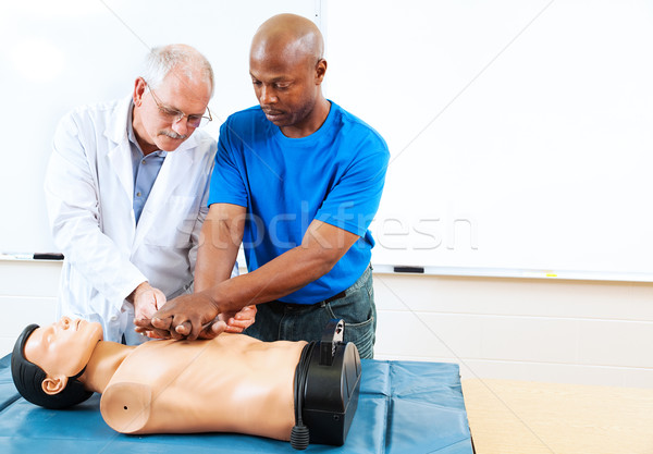 Stock photo: Adult Education - First Aid Training