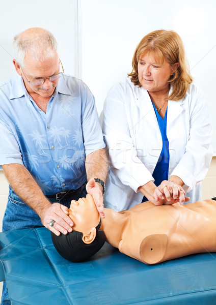 Teaching First Aid CPR Stock photo © lisafx