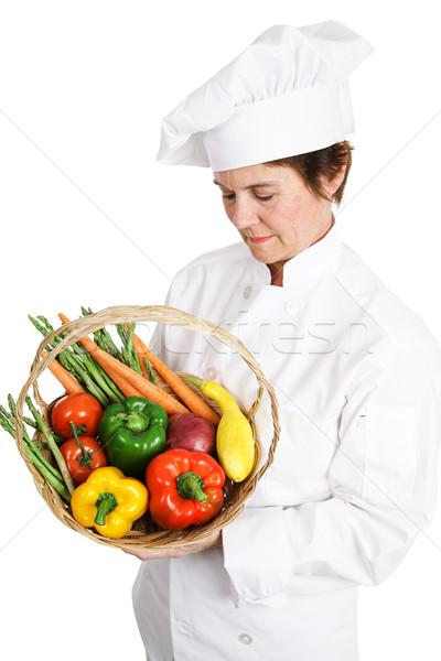Chef Inspecting Produce Stock photo © lisafx