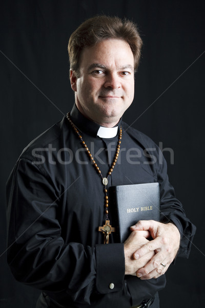 Priest With Rosary and Bible Stock photo © lisafx