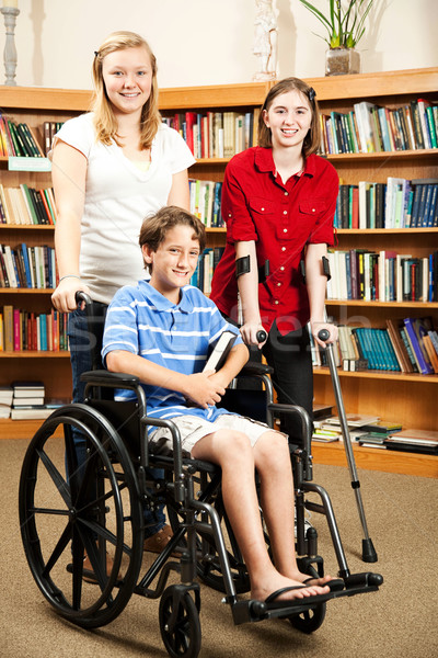 Kids in Library - Disabilities Stock photo © lisafx