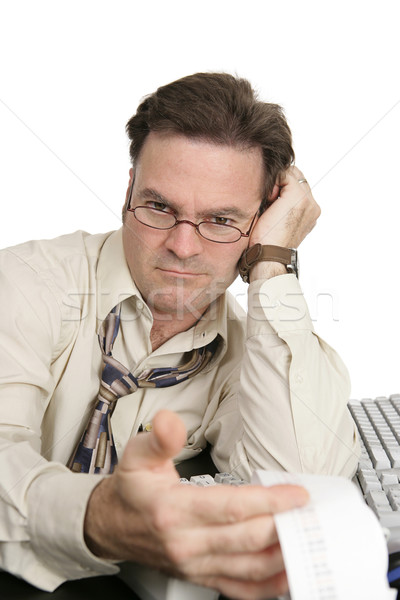 Accounting Series - Unfriendly Auditor Stock photo © lisafx