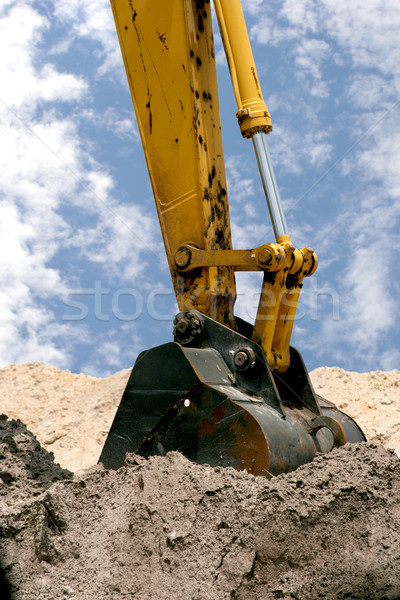 Zurück Hacke Erde Industrie arbeiten industriellen Stock foto © lisafx