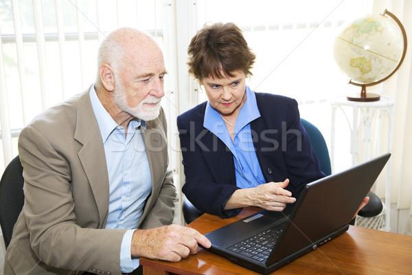 Corretor cliente ver on-line Foto stock © lisafx