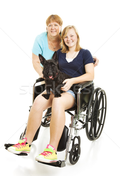Disabled Teen with Mom Stock photo © lisafx
