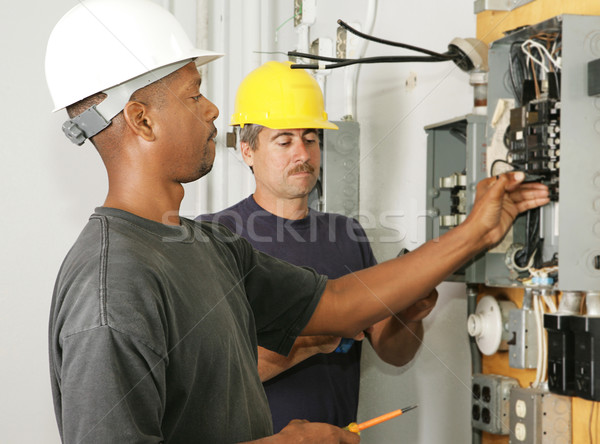 Stock photo: Electrician Diversity
