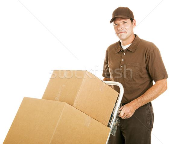 Handsome Moving Man Stock photo © lisafx