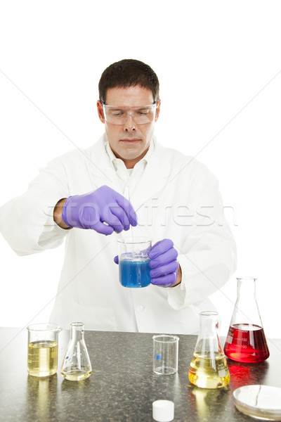 Scientist Mixes Compound in Lab Stock photo © lisafx