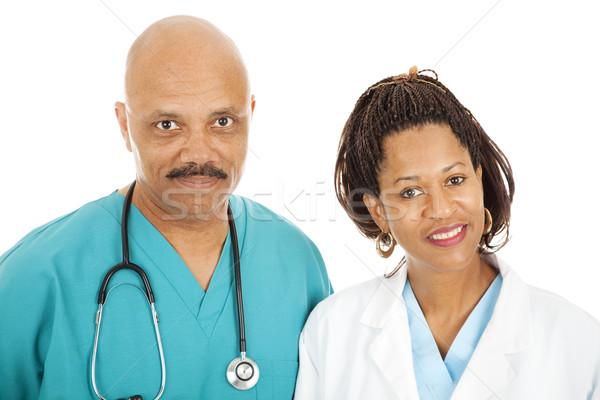 Portré gondoskodó orvosok fej vállak izolált Stock fotó © lisafx