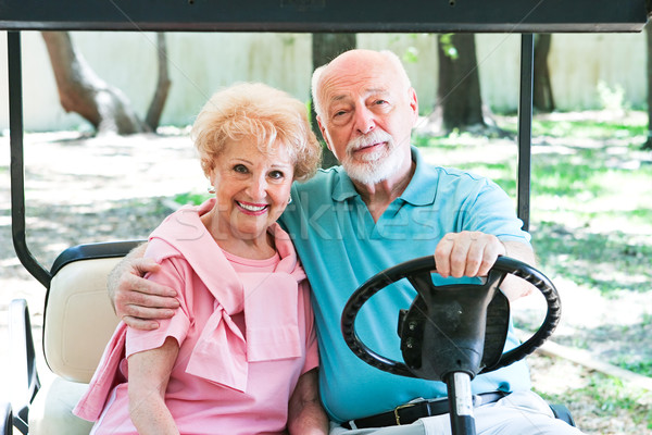 Active Seniors in Golf Cart Stock photo © lisafx