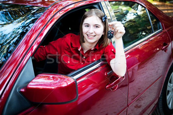 Teenage Driver in New Car Stock photo © lisafx