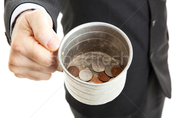 Bad Economy - Begging for Change Stock photo © lisafx