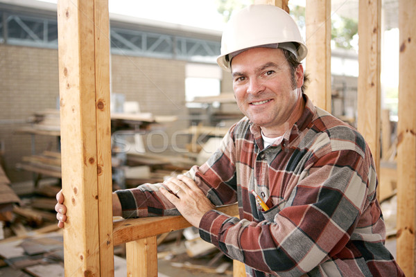 Friendly Construction Worker Stock photo © lisafx