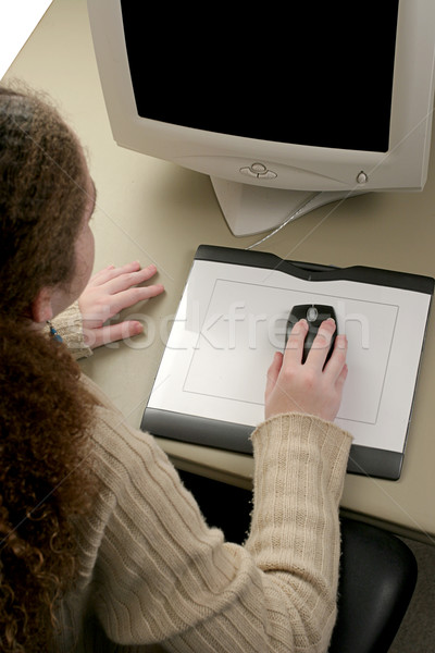 Graphic Tablet & Mouse Stock photo © lisafx