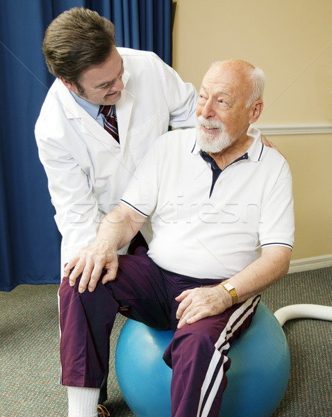Senior Man Getting Physical Therapy Stock photo © lisafx
