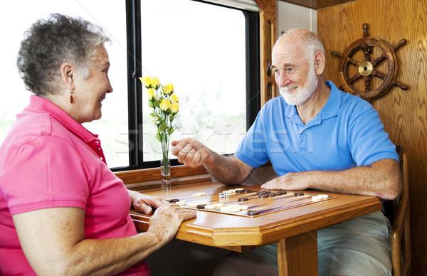 Photo stock: Jouer · couple · de · personnes · âgées · jouer · cuisine · moteur