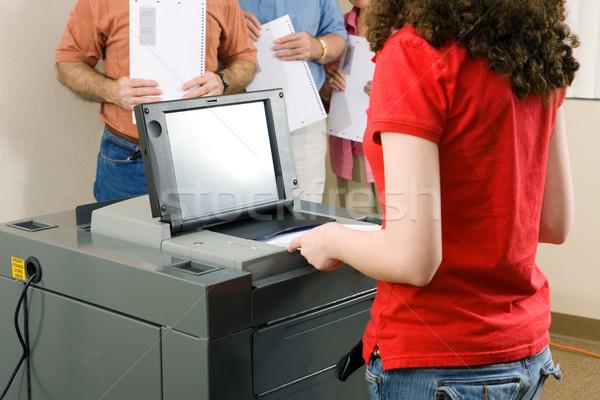 Voting on Optical Scanner Stock photo © lisafx