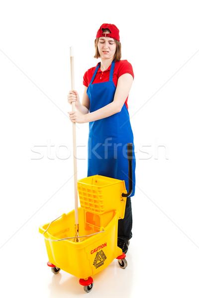 Adolescente desagradable Trabajo trabajador hasta Foto stock © lisafx
