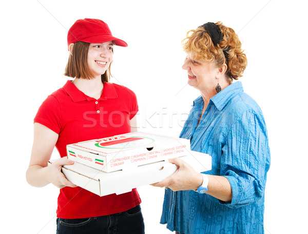 Pizza Home Delivery on White Stock photo © lisafx
