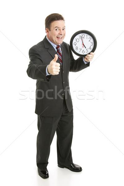 Businessman - Almost Five Stock photo © lisafx