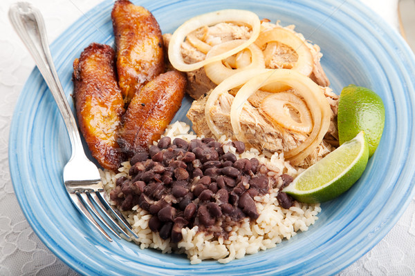 Delicious Cuban Dinner Stock photo © lisafx