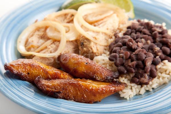жареный Sweet кубинский продовольствие обеда Сток-фото © lisafx
