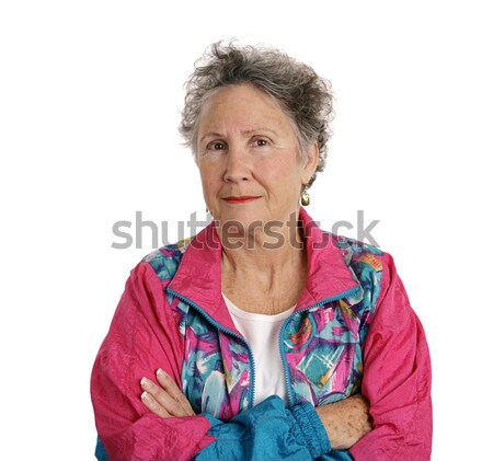 Distrustful Senior Lady Stock photo © lisafx