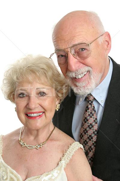 Foto stock: Elegante · retrato · bonito · casal