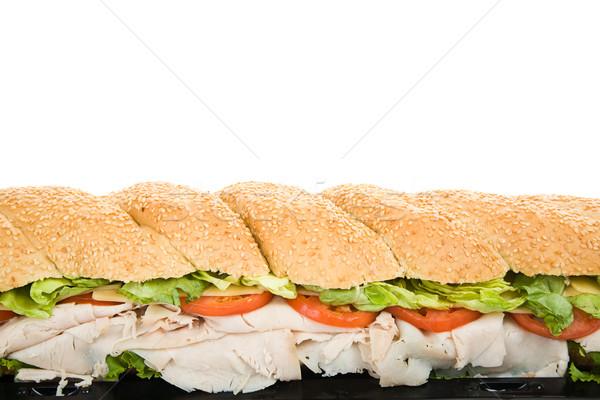 гигант сэндвич границе мнение три Сток-фото © lisafx