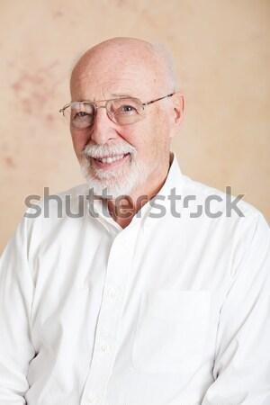 Avô sábio isolado branco empresário homens Foto stock © lisafx