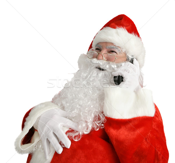 Santa's Funny Phone Call Stock photo © lisafx