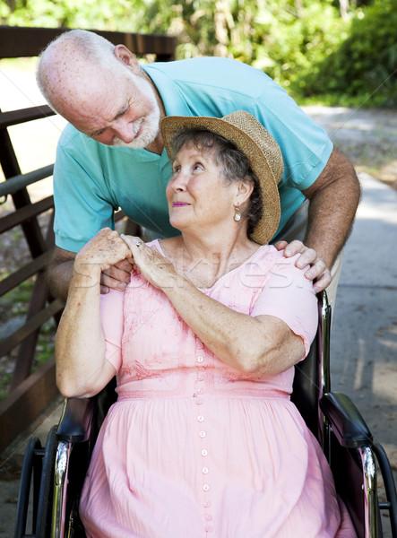 Senior Couple Caretaker Stock photo © lisafx
