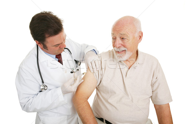 Stock photo: Senior Medical - Flu Shot