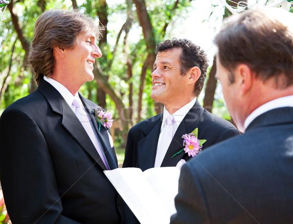 Gay Wedding - Together for Life Stock photo © lisafx