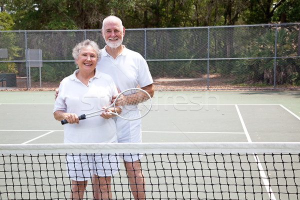 Active Seniors on Tennis Court Stock photo © lisafx