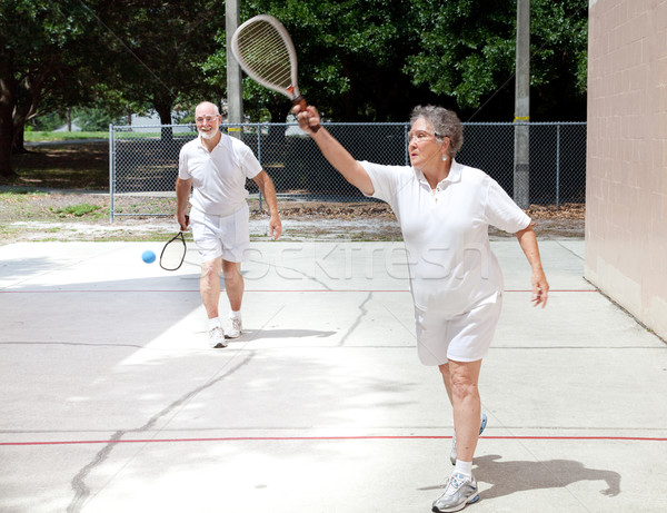Retirees Playing Racquetball Stock photo © lisafx