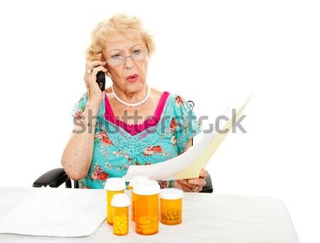 Senior mulher dor abrir lata mãos Foto stock © lisafx