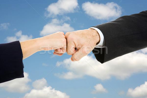 Business Fist Bump Sky Stock photo © lisafx