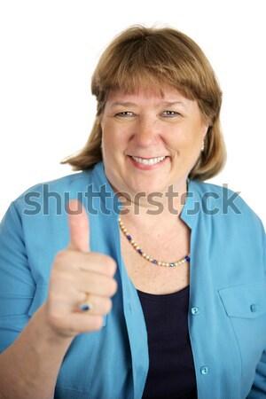 Happy Woman Thumbsup Stock photo © lisafx
