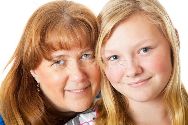 Mom and Daughter Closeup Stock photo © lisafx